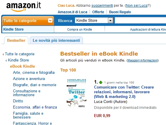 Lavoro e carriera con LinkedIn n.1 su Amazon
