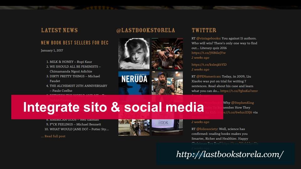 integrare sito e social media