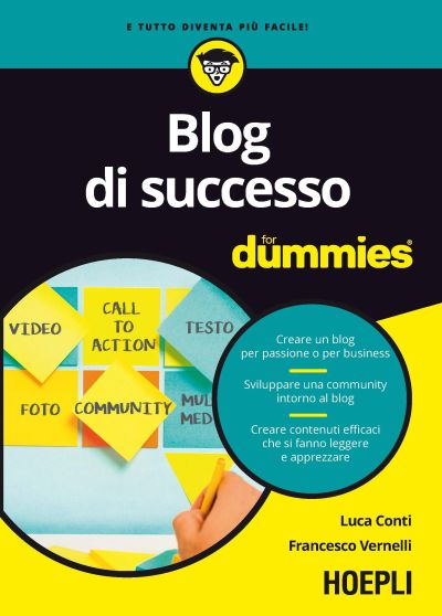 copertina blog di successo for dummies